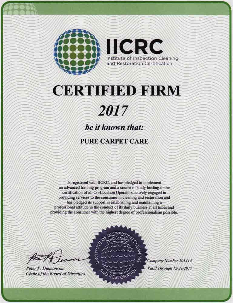 Pure Carpet Care New Jersey Clean Trust Certified Carpet Cleaning